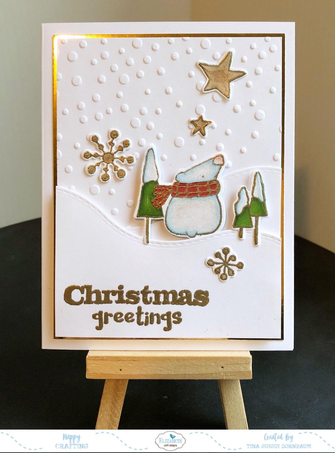 Polar Bear Christmas Greeting Card