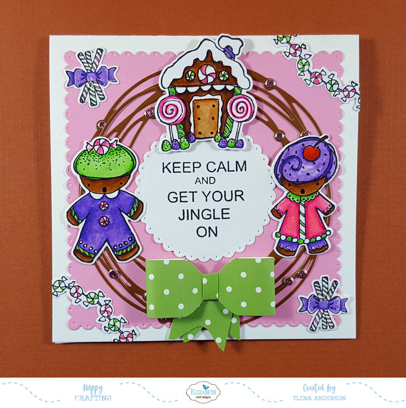 Gingerbread Christmas Wreath Card