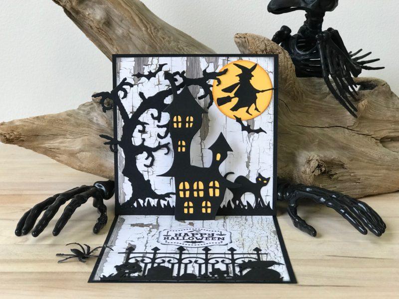 Halloween Pop Up Cards Templates.Halloween Card Elizabeth Craft Designs