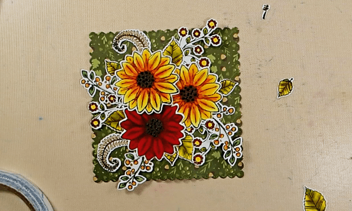 Fall Blossom Time Card - Step 2