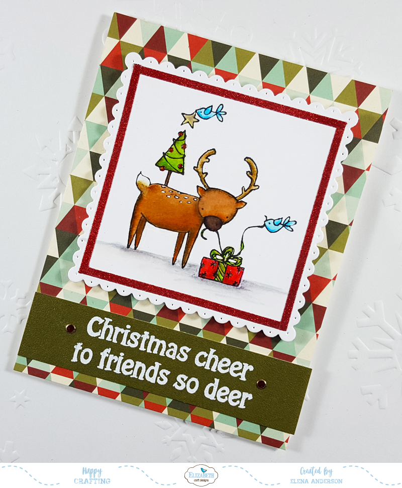 Deer Friends Christmas Card