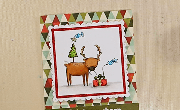 Deer Friends Christmas Card - Step 3