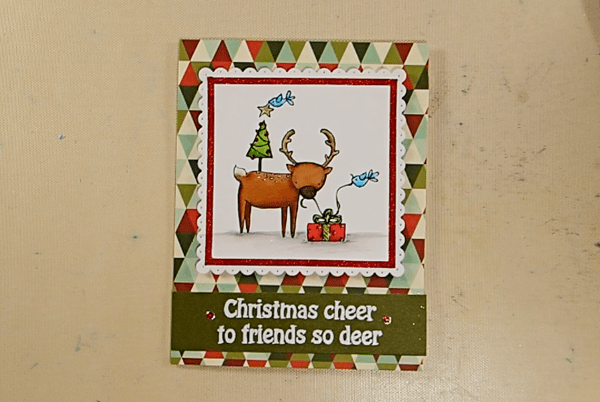 Deer Friends Christmas Card - Step 4