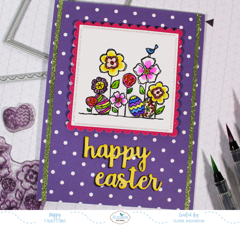 Bright & Colorful Floral Easter Card