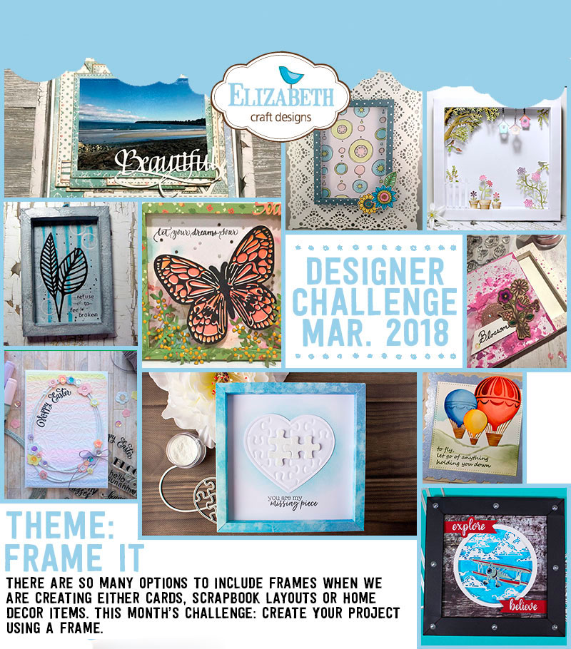 Elizabeth Craft Designs Designer Challenge March 2018 Elizabeth