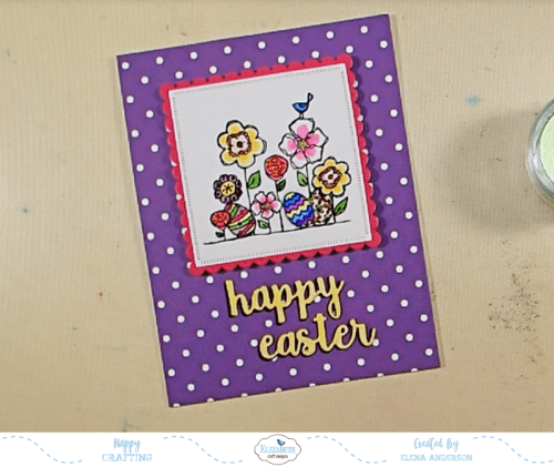 Bright & Colorful Floral Easter Card - Step 4