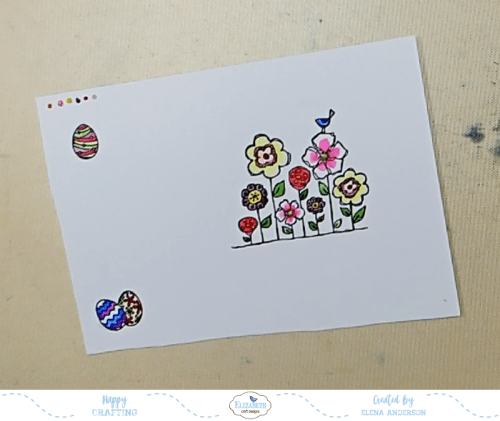Bright & Colorful Floral Easter Card - Step 1