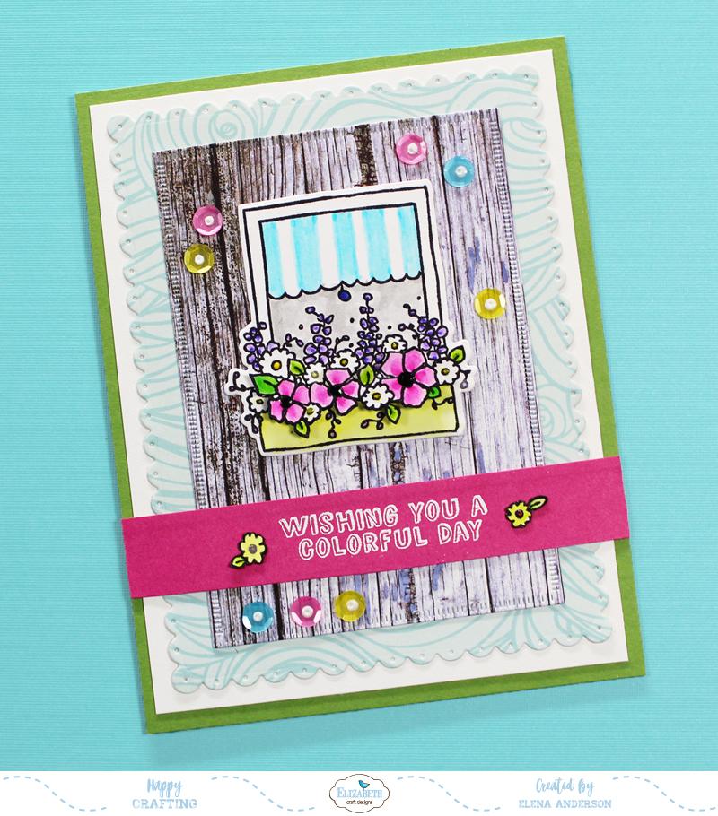 Colorful Window Box Card