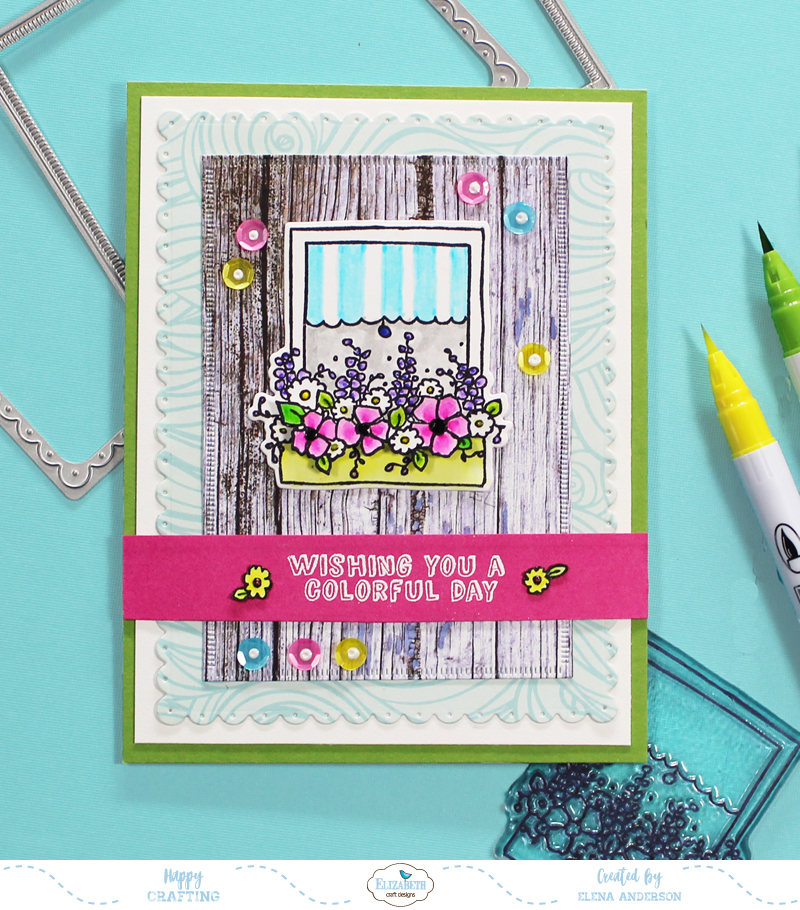 Colorful Window Box Card