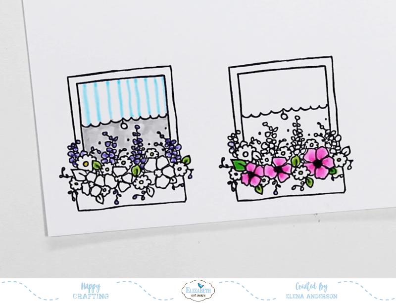 Colorful Window Box Card - Step 1