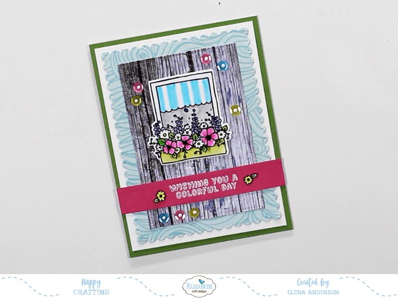 Colorful Window Box Card - Step 5
