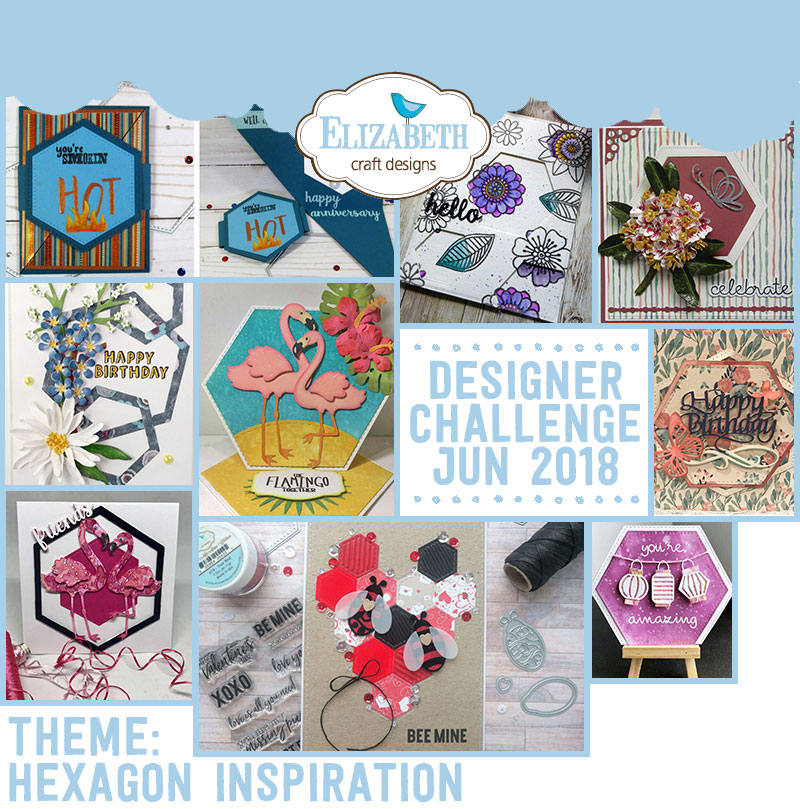 Die Cut Designer Challenge Elizabeth Craft Designs