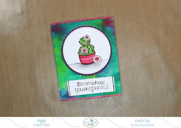 Watercolor Cactus Card - Step 5