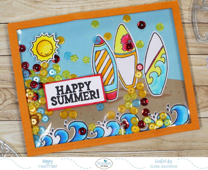 Fun In The Sun Shaker Card