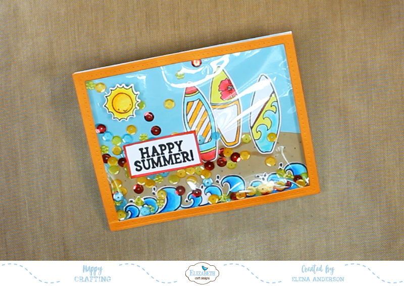 Fun In The Sun Shaker Card - Step 4