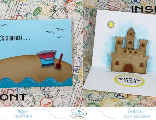 Summery Sand Castle Pop-Up Card