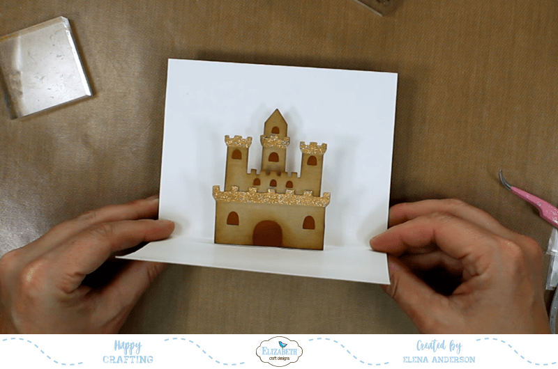 Summery Sand Castle Pop-Up Card - Step 4