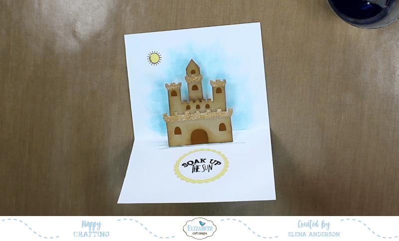 Summery Sand Castle Pop-Up Card - Step 5