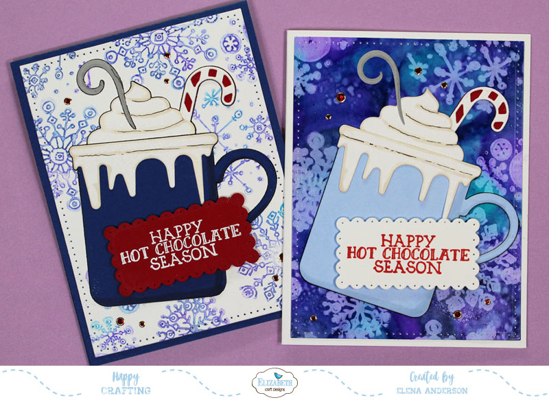 Whimsical Happy Hot Chocolate Season Cards