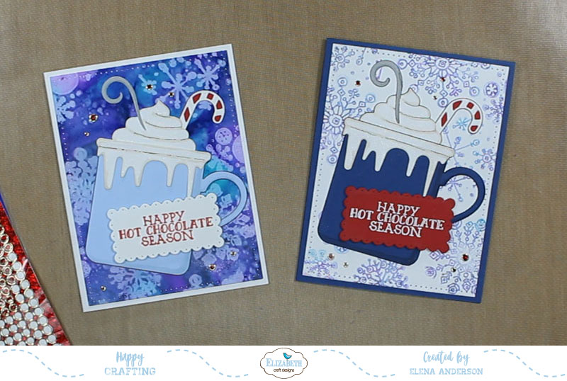 Whimsical Happy Hot Chocolate Season Cards - Step 6