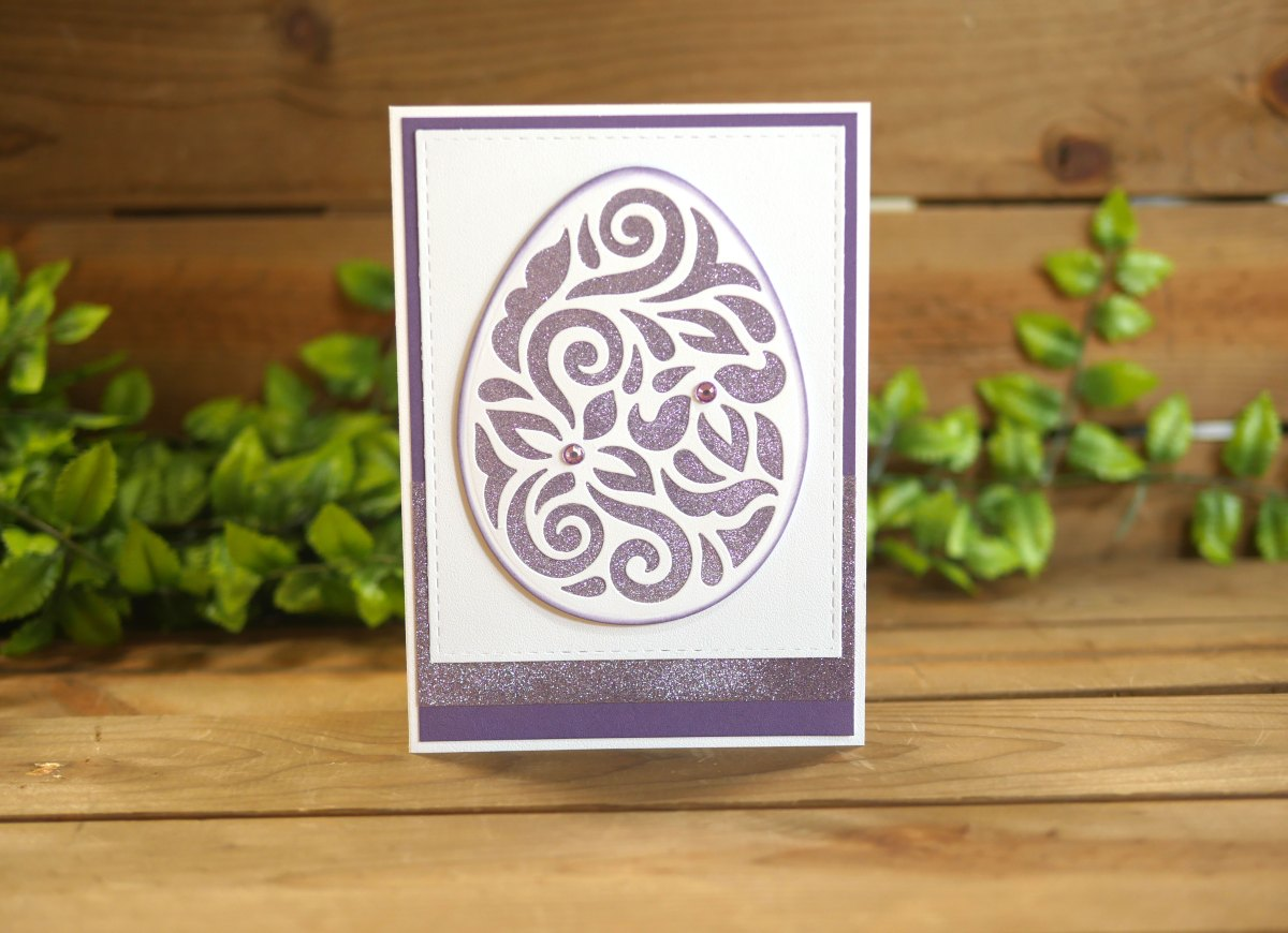 Technique Friday - Elegant Easter Egg Card