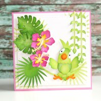 Tropical Parrot Card | Technique Friday