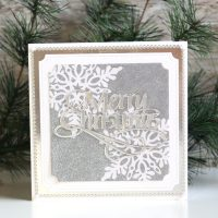 Technique Friday | Snowflake Masking Card