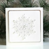 Technique Friday | Sparkling Snowflake Card
