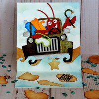 Beach Bum Easel Card