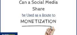 Incentivised Social Sharing as a Route to Monetization