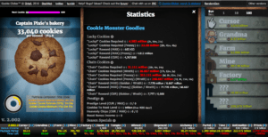 Cookie Clicker mit AddOns