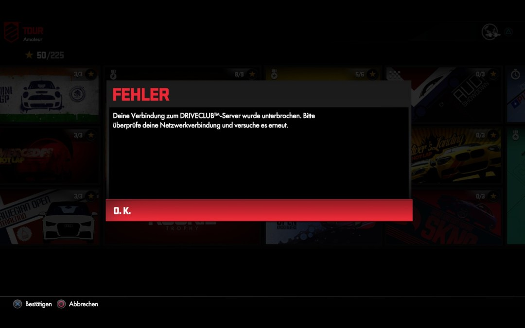 Driveclub – Tag 4, keine Server in Sicht
