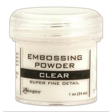 Ranger Super Fine Embossing Powder, Clear - 789541037385