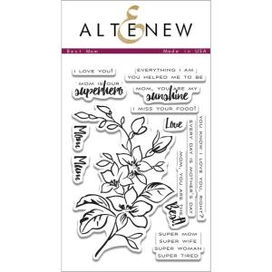 Altenew Clear Stamps, Best Mom -