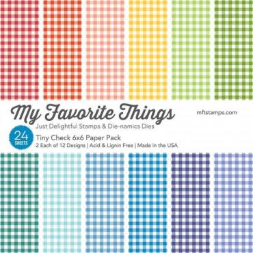 My Favorite Things Paper Pack, Tiny Check - 849923014028