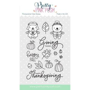 Pretty Pink Posh Clear Stamps, Giving Thanks -