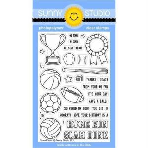Sunny Studio Stamps Clear Stamps, Team Player - 0649964636063