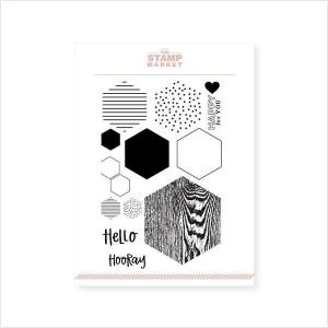 The Stamp Market Clear Stamps, Hexagon Hello -