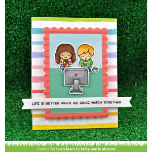 Lawn Fawn Clear Stamps, Screen Time - 352926702286