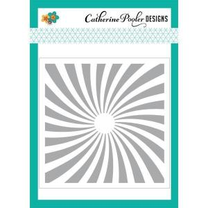 Catherine Pooler Stencils, Twisted Sunburst - 819447022076