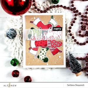 Christmas Stockings, Altenew Clear Stamps - 655646173108