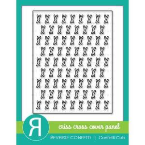 Criss Cross Cover Panel, Reverse Confetti Cuts -