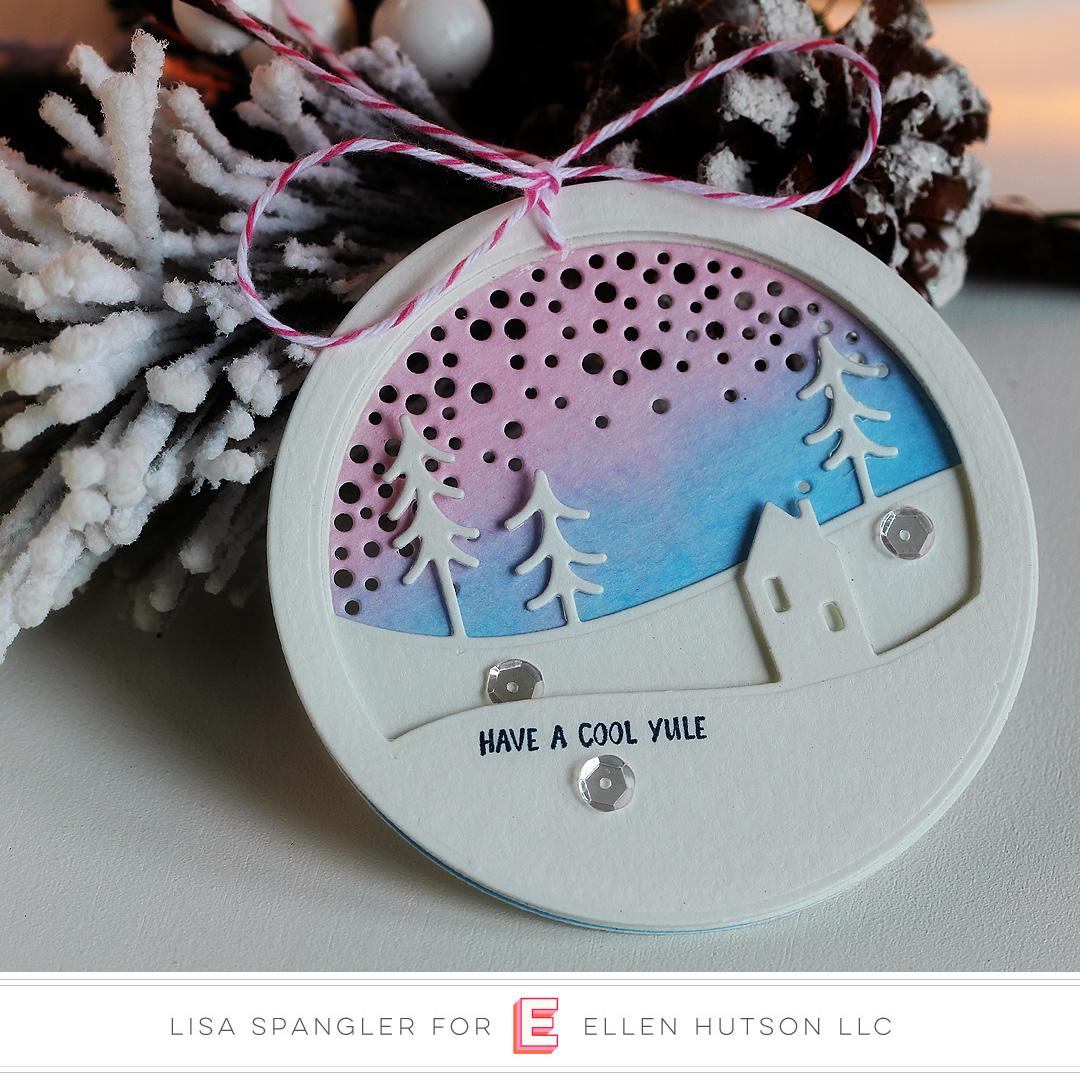 Essentials by Ellen Alpine Snowfall tag by Lisa Spangler