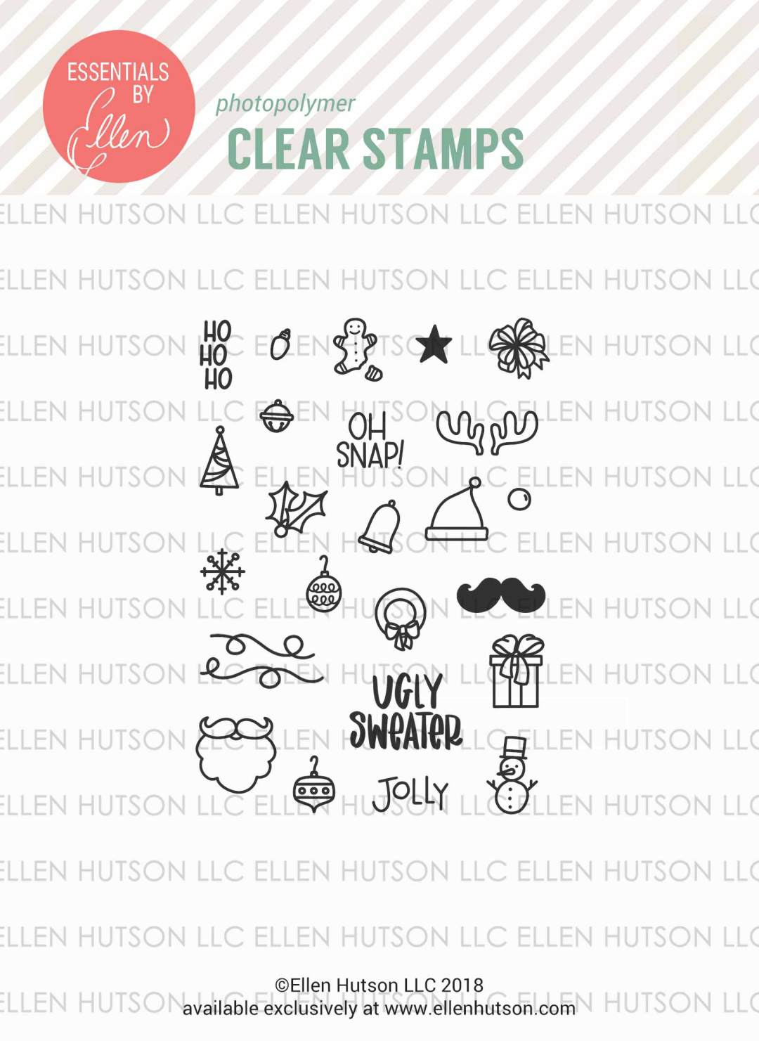 Essentials by Ellen Ugly Sweater Accessories stamps