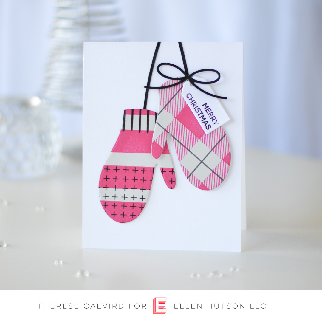 Essentials by Ellen Pop-Up Mitten card by Therese Calvird