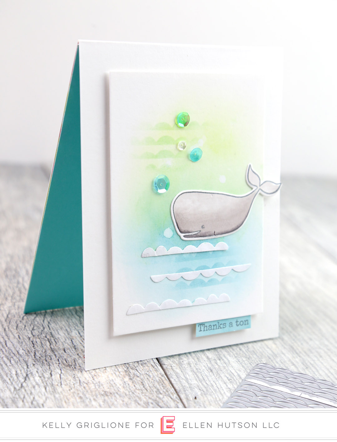 Essentials by Ellen Scallops card by Kelly Griglione