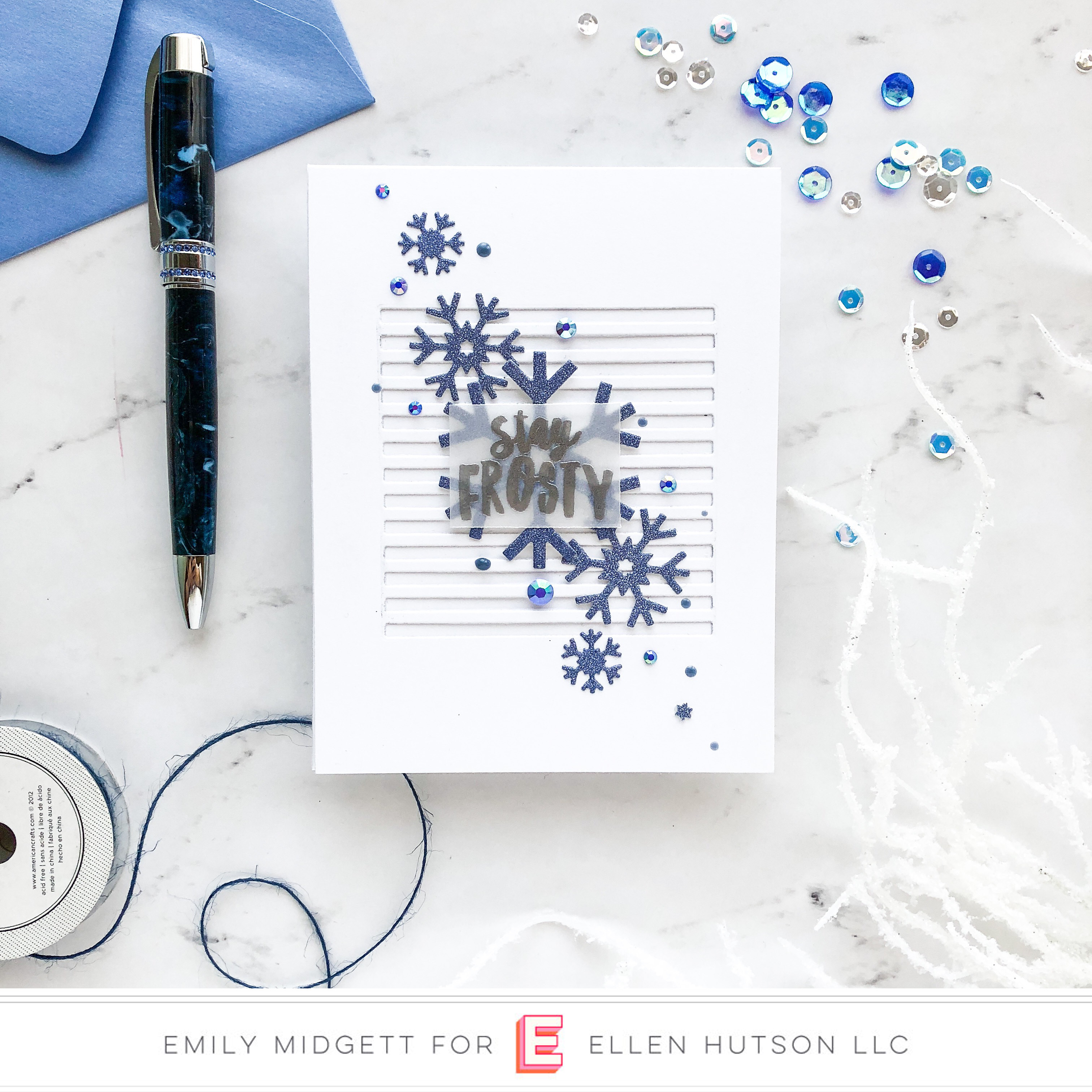 Essentials by Ellen Skinny Stripes card by Emily Midgett
