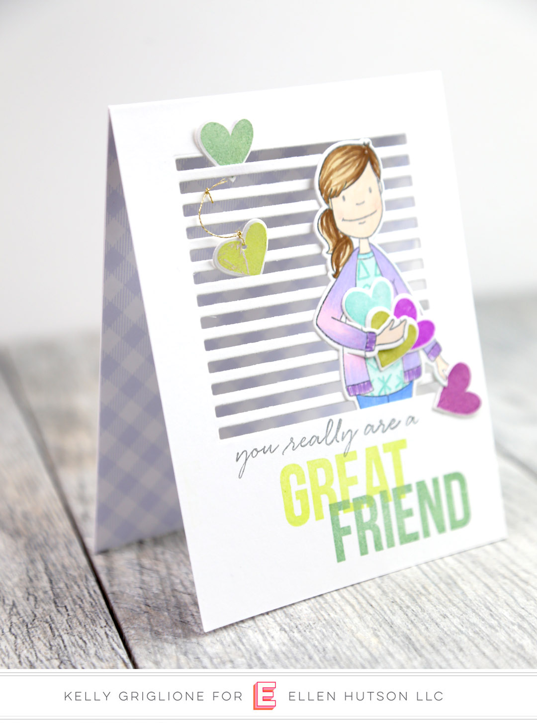 Essentials by Ellen Skinny Stripes card by Kelly Griglione
