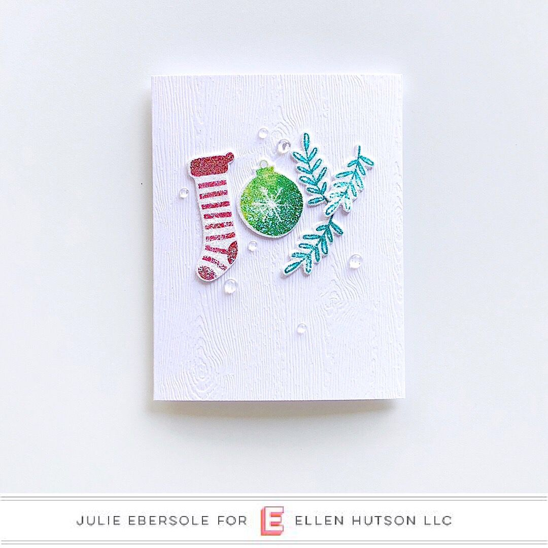 Holiday Word card featuring The Stamp Market by Julie Ebersole