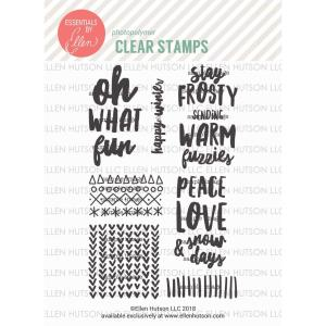 Snow Days by Julie Ebersole, Essentials By Ellen Clear Stamps -